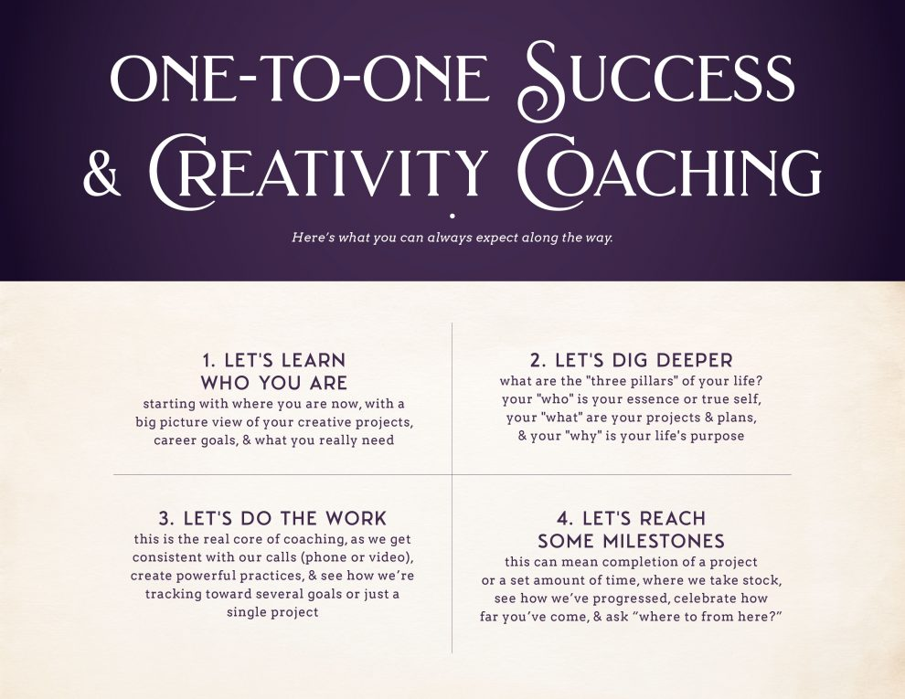 One-to-One Success & Creativity Coaching